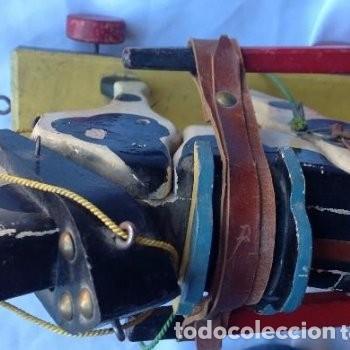 Juguetes antiguos de hojalata: CARRETA DE MADERA CON LONA DE HOJALATA - Foto 6 - 150842414