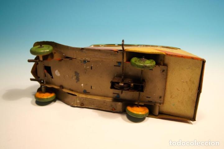 Juguetes antiguos de hojalata: COLECTIVO MATARAZZO AUTOBUS HOJALATA AÑOS 30 RARO - Foto 6 - 150948118