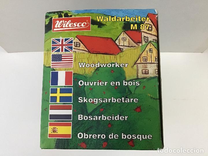Juguetes antiguos de hojalata: Aserradores de Wilesco - Foto 4 - 150977074