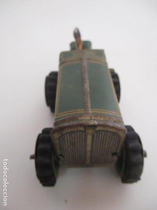 Juguetes antiguos de hojalata: Antiguo Juguete - Tractor Metálico a Cuerda - Autómata - Made in Germany - Foto 3 - 151050010