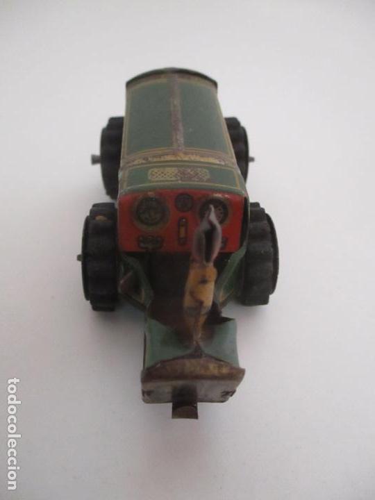Juguetes antiguos de hojalata: Antiguo Juguete - Tractor Metálico a Cuerda - Autómata - Made in Germany - Foto 7 - 151050010