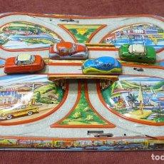 Juguetes antiguos de hojalata: CIRCUITO DE COCHES TECHNOFIX MOD. 298. Lote 151064638