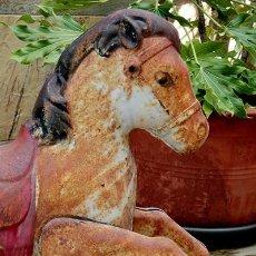 Juguetes antiguos de hojalata: BONITO CABALLO DE HOJALATA - GRAN TAMAÑO - AÑOS 30-40 - INGLÉS MOBO - PIEZA DECORACIÓN - VINTAGE. Lote 151416554
