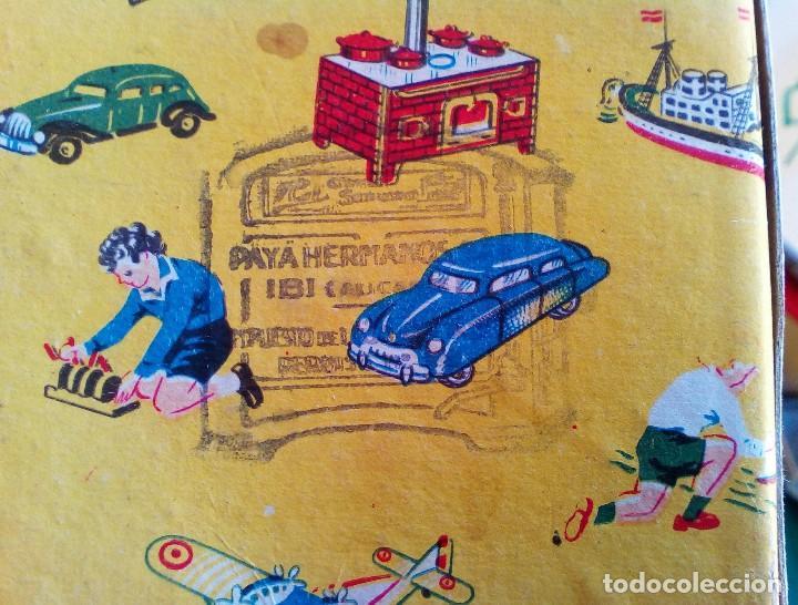 Juguetes antiguos de hojalata: COCINITA PAYÁ DE CHAPA CON CACEROLAS - AÑOS 40 - 50 - ES SU CAJA ORIGINAL - Foto 19 - 151420410