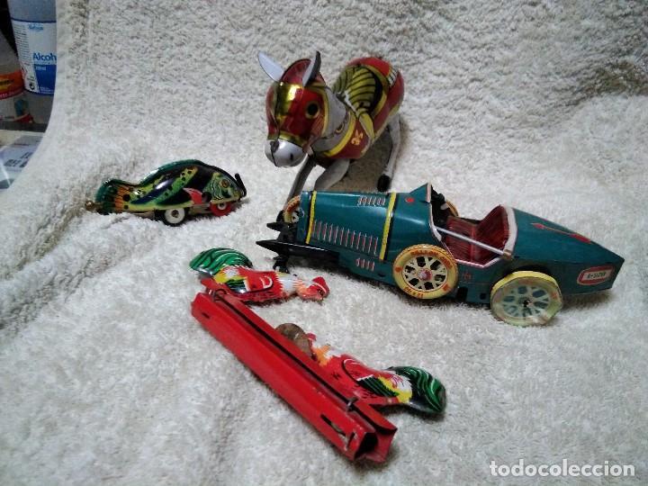 Juguetes antiguos de hojalata: lote de juguetes de hojalata para piezas - Foto 2 - 151527430