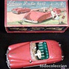 Juguetes antiguos de hojalata: SCHUCO RADIO 4012 EN CAJA ORIGINAL, MADE U.S. ZONA GERMANY, FUNCIONA LA MÚSICA COMO EL MOVIMIENTO. Lote 152008258