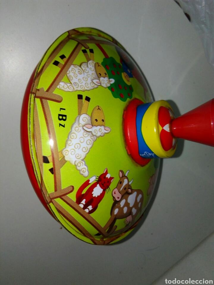 PEONZA LBZ ALEMANA HOJALATA (Juguetes - Juguetes Antiguos de Hojalata Extranjeros)
