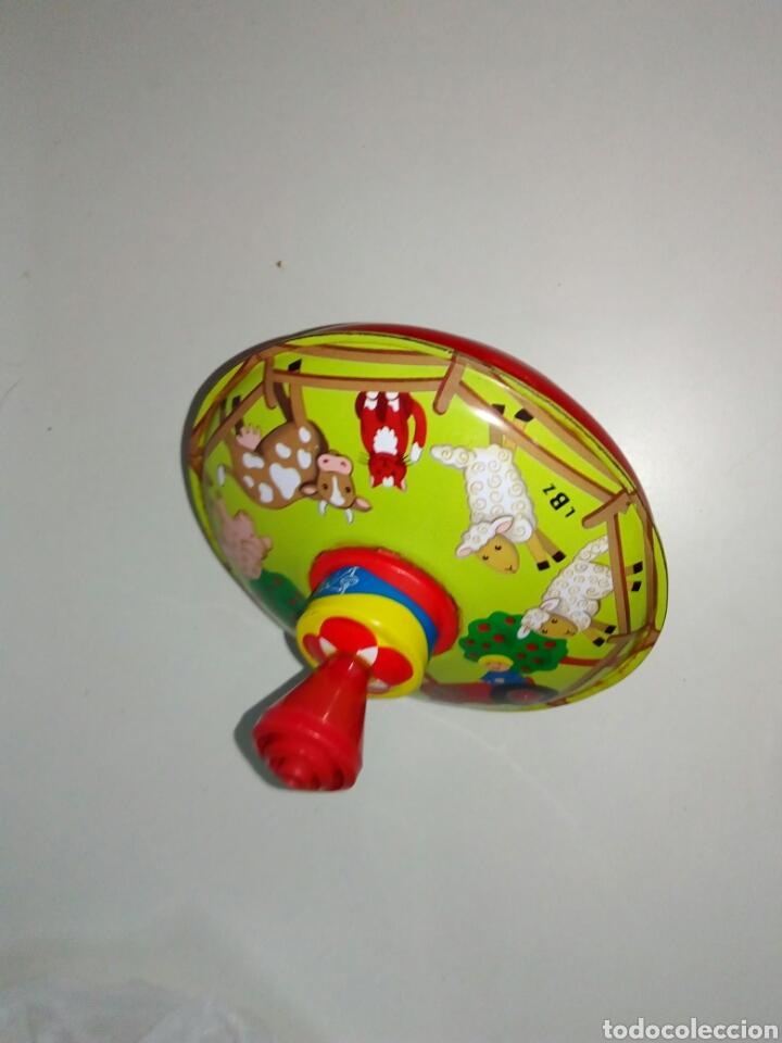 Juguetes antiguos de hojalata: Peonza lbz alemana hojalata - Foto 2 - 153647641