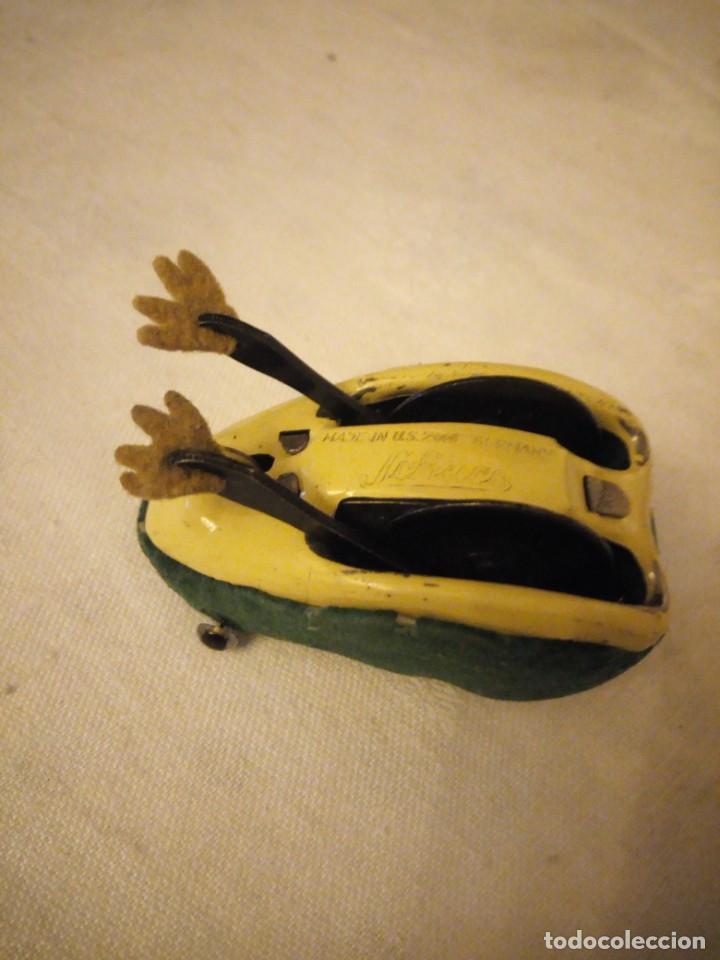 Juguetes antiguos de hojalata: rana saltarina schuco made in u.s. zone germany.años 40,rara de ver - Foto 5 - 154739102