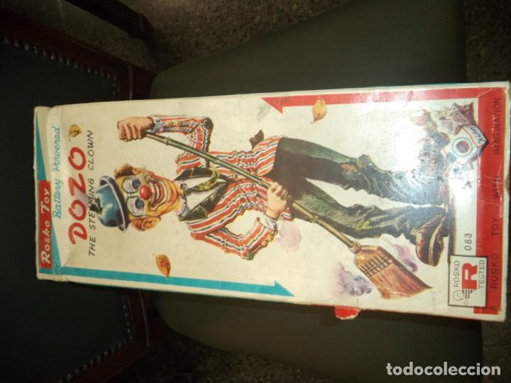 Juguetes antiguos de hojalata: PAYASO HOJALATA MADE IN JAPAN CON CAJA - Foto 3 - 154829714
