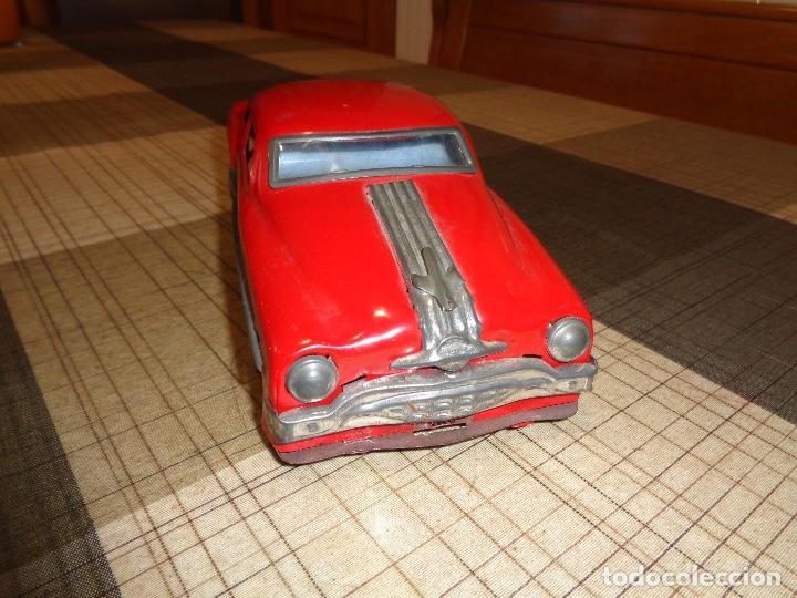 Juguetes antiguos de hojalata: raro coche de hojalata años 50 - Foto 2 - 154925278
