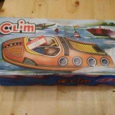 Juguetes antiguos de hojalata: CLIM CANOA. 411. CON RESORTE. NUEVO EN SU CAJA. VINTAGE. Lote 154999322