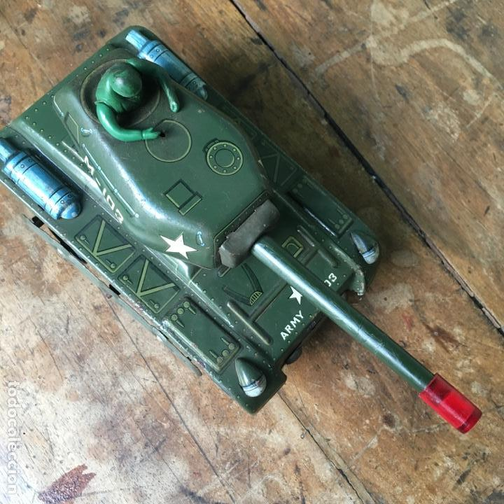 Juguetes antiguos de hojalata: Tanque M-103 de Modern Toys Made in Japan - Foto 3 - 155972858