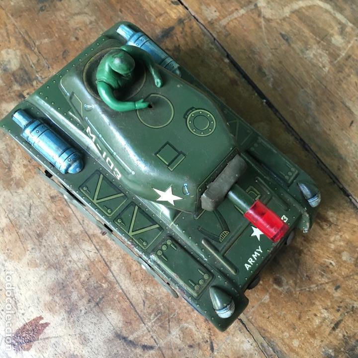 Juguetes antiguos de hojalata: Tanque M-103 de Modern Toys Made in Japan - Foto 4 - 155972858