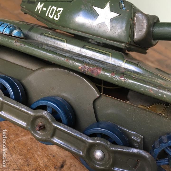 Juguetes antiguos de hojalata: Tanque M-103 de Modern Toys Made in Japan - Foto 5 - 155972858
