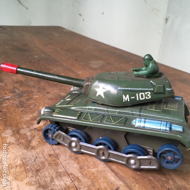 Juguetes antiguos de hojalata: Tanque M-103 de Modern Toys Made in Japan - Foto 6 - 155972858