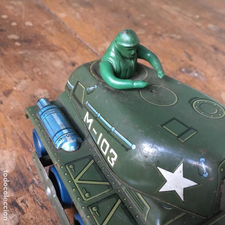 Juguetes antiguos de hojalata: Tanque M-103 de Modern Toys Made in Japan - Foto 8 - 155972858
