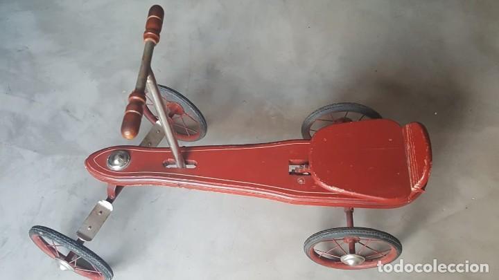 Juguetes antiguos de hojalata: AUTO PATIN DE PALANCA....... NUEVO - Foto 2 - 155985922