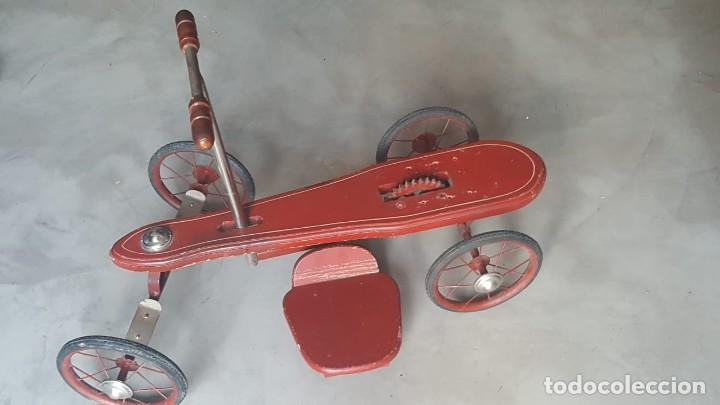 Juguetes antiguos de hojalata: AUTO PATIN DE PALANCA....... NUEVO - Foto 4 - 155985922