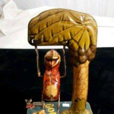 Juguetes antiguos de hojalata - RARISIMO MUSEO UNIQUE ART BOMBO MONJE ACROBATA FUNCIONANDO HOJALATA LITOGRAFIADA AÑOS 30 -980 EUR. - 155998362