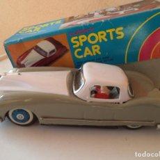 Juguetes antiguos de hojalata: LUCKY SPORT CAR HOJA DE LATA JUGUETE CHINO FUNCIONA A FRICCION 22 CM. Lote 156518310
