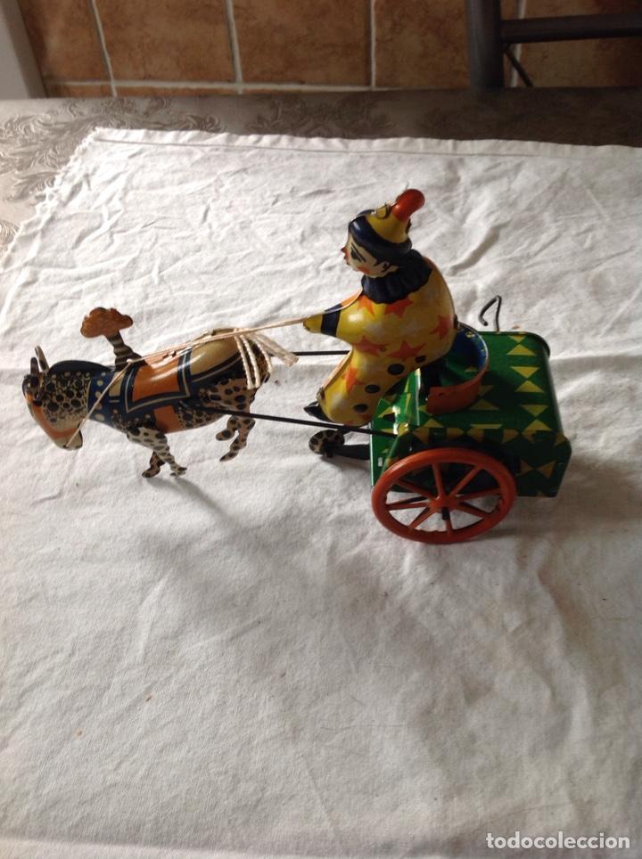 Juguetes antiguos de hojalata: ANTIGUO CARRO PAYASO HOJALATA - Foto 3 - 157365108