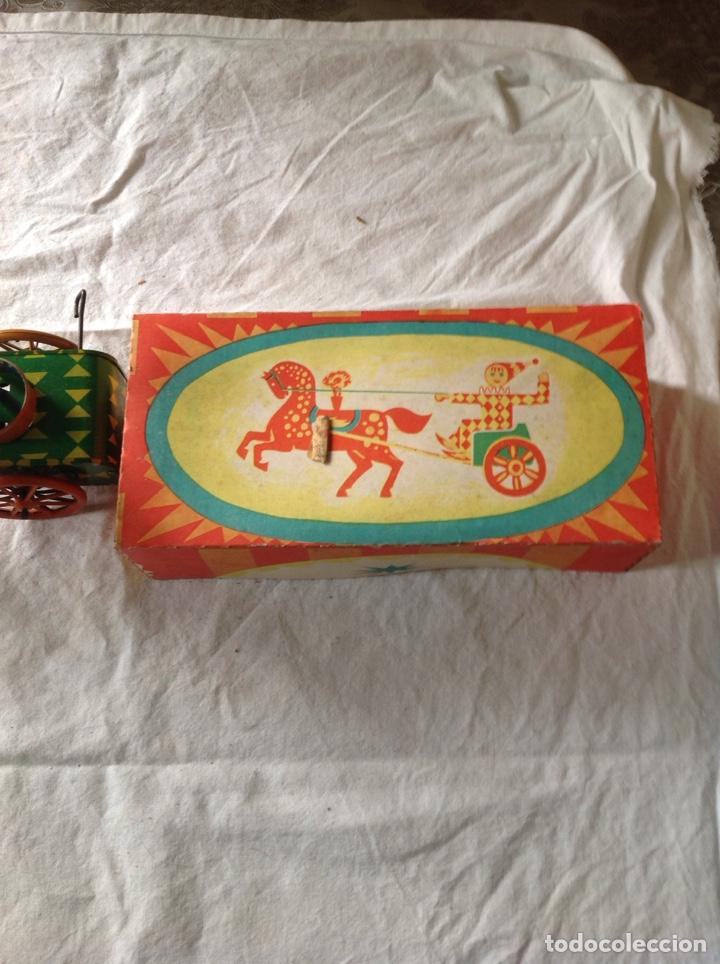 Juguetes antiguos de hojalata: ANTIGUO CARRO PAYASO HOJALATA - Foto 4 - 157365108