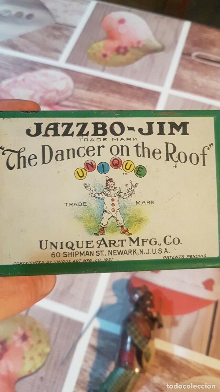 Juguetes antiguos de hojalata: MAGNIFICO MUSEO ANTIGUO JUGUETE HOJALATA UNIQUE ART RARISIMO Jazzbo Jim Americano Negro banjo 1920s - Foto 3 - 158576550