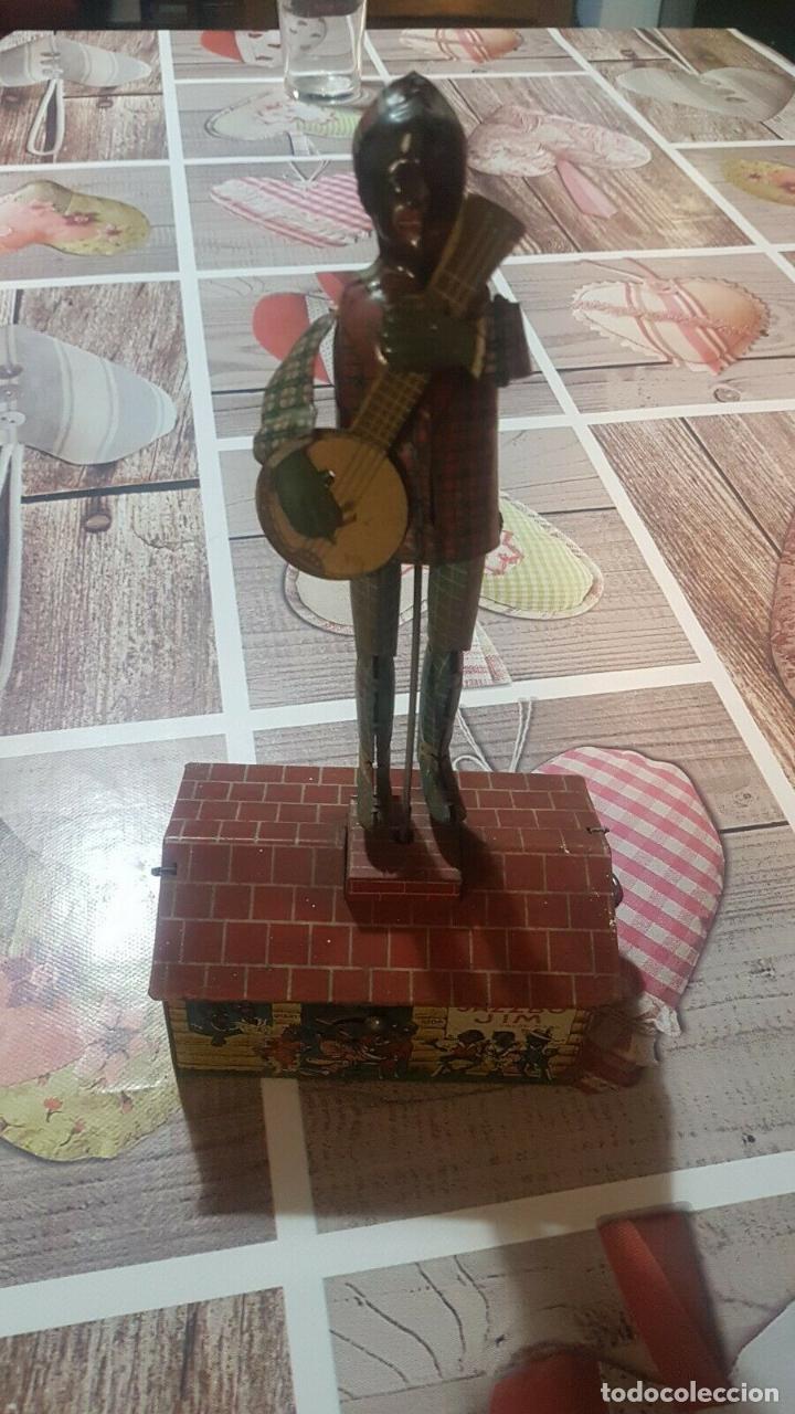 Juguetes antiguos de hojalata: MAGNIFICO MUSEO ANTIGUO JUGUETE HOJALATA UNIQUE ART RARISIMO Jazzbo Jim Americano Negro banjo 1920s - Foto 4 - 158576550