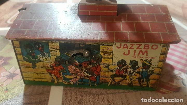 Juguetes antiguos de hojalata: MAGNIFICO MUSEO ANTIGUO JUGUETE HOJALATA UNIQUE ART RARISIMO Jazzbo Jim Americano Negro banjo 1920s - Foto 8 - 158576550