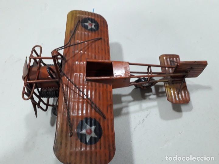Juguetes antiguos de hojalata: AVIÓN DE HOJALATA - Foto 3 - 158715234