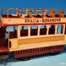 Juguetes antiguos de hojalata: TRANVIA HISPANIA GRACIA BONANOVA. Lote 158957750