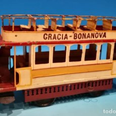 Juguetes antiguos de hojalata - TRANVIA HISPANIA GRACIA BONANOVA - 158957750