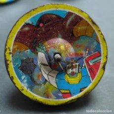 Juguetes antiguos de hojalata: PEONZA MANGA. HOJALATA Y PLÁSTICO. JAPON. AÑO 1980?.. Lote 159333550