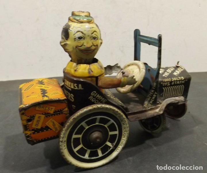 Juguetes antiguos de hojalata: COCHE ANTIGUO MARXS The ride m. Rough tire co. Vacuum Lizzie auto Oldtimer AÑOS 1920 RARISIMO 980 e - Foto 5 - 159442722