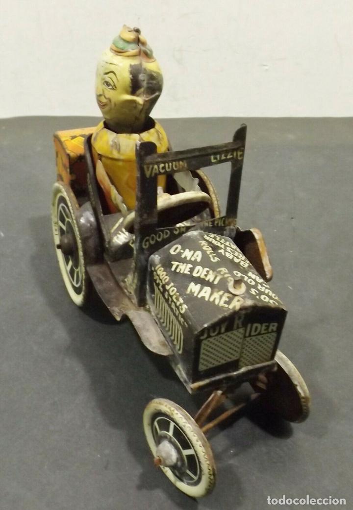 Juguetes antiguos de hojalata: COCHE ANTIGUO MARXS The ride m. Rough tire co. Vacuum Lizzie auto Oldtimer AÑOS 1920 RARISIMO 980 e - Foto 6 - 159442722