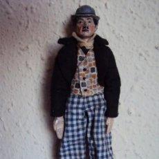 Juguetes antiguos de hojalata: (JU-190456)SABA BUCHERER ANTIGUO MUÑECO SUIZO ARTICULADO CHARLOT AÑO 1920 - CHARLES CHAPLIN. Lote 159641874