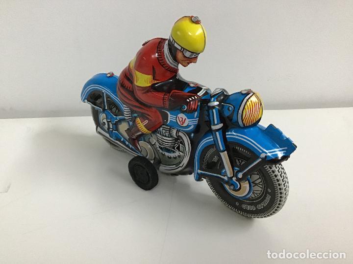 Juguetes antiguos de hojalata: Moto de hojalata - Foto 2 - 160309658