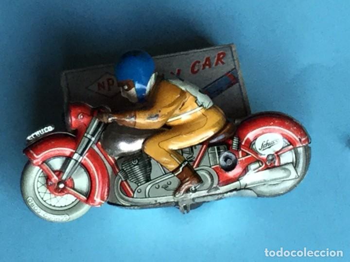 MOTO SCHUCO, MADE IN US ZONE GERMANY, MOTODRILL 1006, (Juguetes - Juguetes Antiguos de Hojalata Extranjeros)