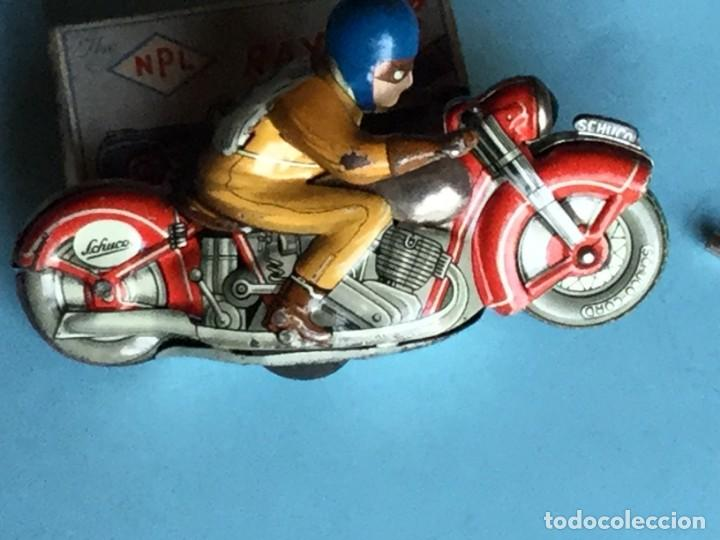 Juguetes antiguos de hojalata: Moto Schuco, Made in US Zone Germany, Motodrill 1006, - Foto 2 - 160379074