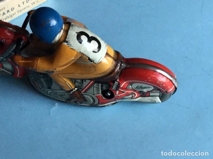 Juguetes antiguos de hojalata: Moto Schuco, Made in US Zone Germany, Motodrill 1006, - Foto 4 - 160379074