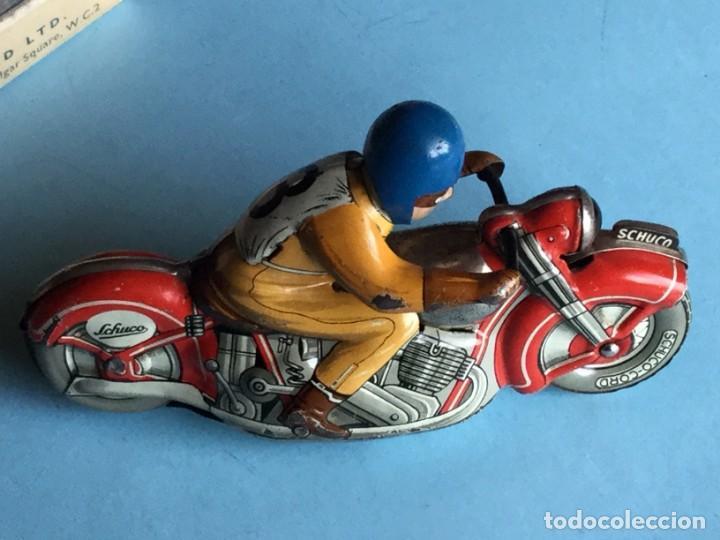 Juguetes antiguos de hojalata: Moto Schuco, Made in US Zone Germany, Motodrill 1006, - Foto 5 - 160379074