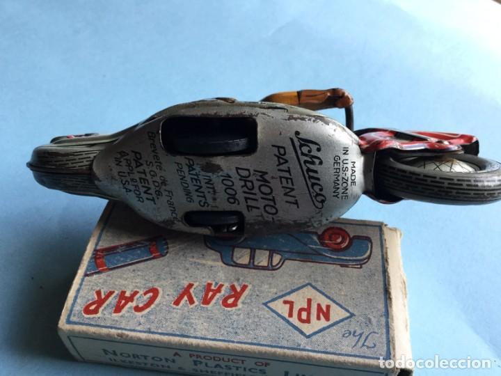 Juguetes antiguos de hojalata: Moto Schuco, Made in US Zone Germany, Motodrill 1006, - Foto 6 - 160379074