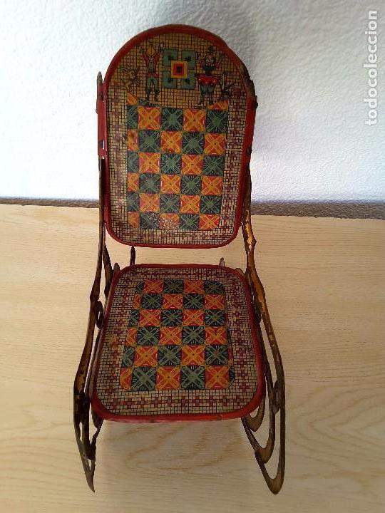 Juguetes antiguos de hojalata: Mecedora grande de Picó y Cía 30,s - Foto 2 - 129313299