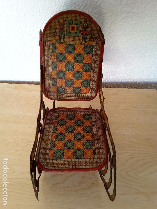 Juguetes antiguos de hojalata: Mecedora grande de Picó y Cía 30,s - Foto 4 - 129313299