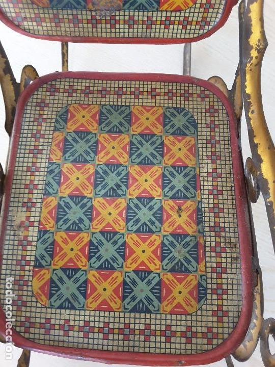 Juguetes antiguos de hojalata: Mecedora grande de Picó y Cía 30,s - Foto 6 - 129313299