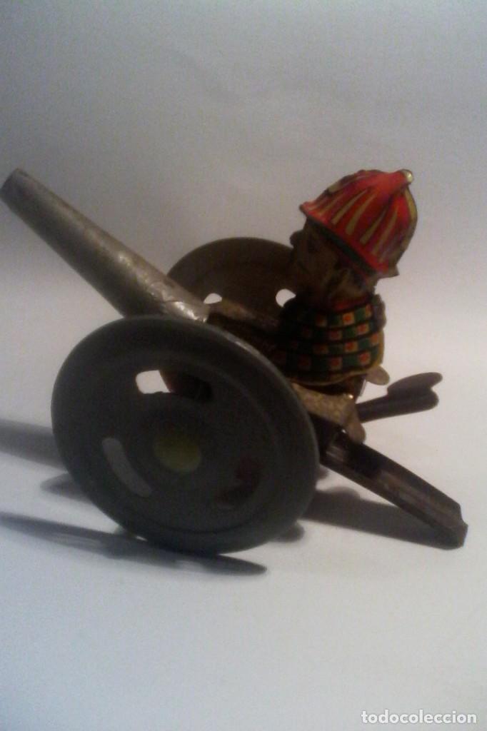Juguetes antiguos de hojalata: RICO - JUGUETE HOJALATA - CAñON - Foto 4 - 160925630