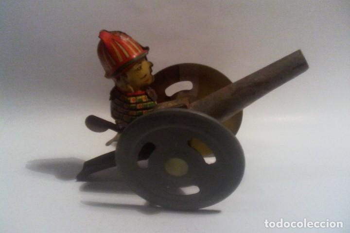 Juguetes antiguos de hojalata: RICO - JUGUETE HOJALATA - CAñON - Foto 6 - 160925630