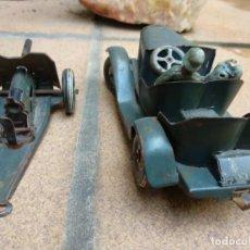 Juguetes antiguos de hojalata - Tippco, coche más pieza de artillería - 161869310