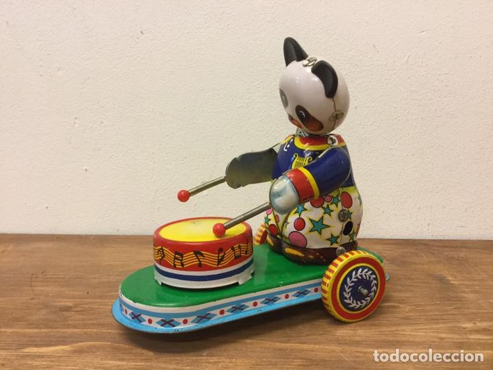 Juguetes antiguos de hojalata: JUGUETE HOJALATA DRUMMING ANIMAL REF/MS 565. - Foto 3 - 162075465